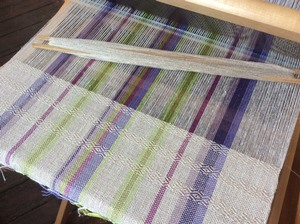 Weaving in progress