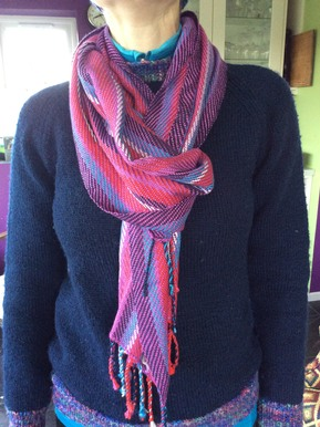 Cotton and bamboo scarf