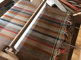 Heddle loom warped up